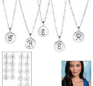 Discounted 925 Sterling Silver Jewelry: Sterling Silver Initial Necklace