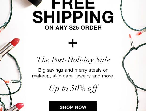 Avon After Christmas Sale with Free Shipping