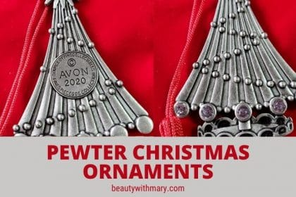 Avon pewter Christmas ornaments