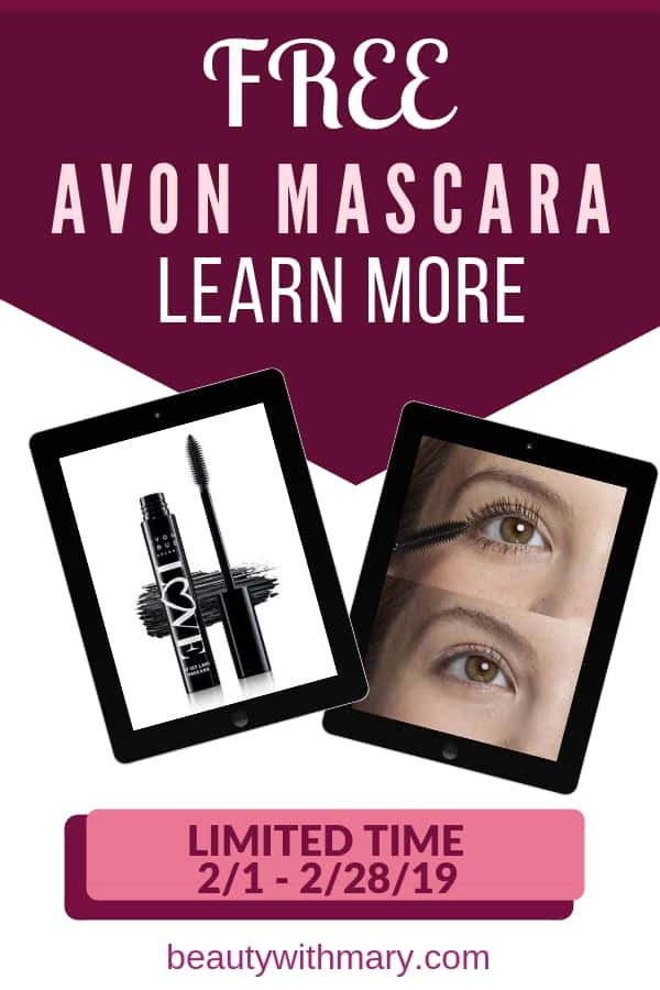 Want Free Mascara? Check out Avon Free Mascara online offer. Buy $50 of Avon online GET free Love at 1st Lash Mascara. Offer Valid month on February 2019. #freemakeup #freebies #MakeupHacks #Avon #HowToGetFreeMakeup #avonmascara #mascaratricks