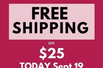 Avon Free Shipping on $25 September 2019