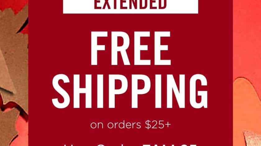 Avon Free Shipping on $25 October 2019