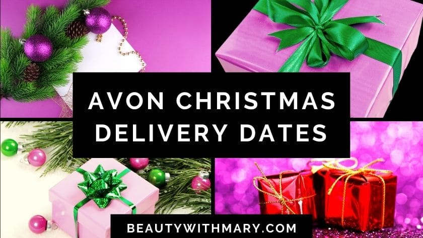 Avon Christmas delivery dates