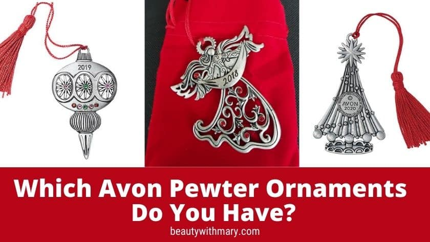 Collectible Avon Pewter Ornaments